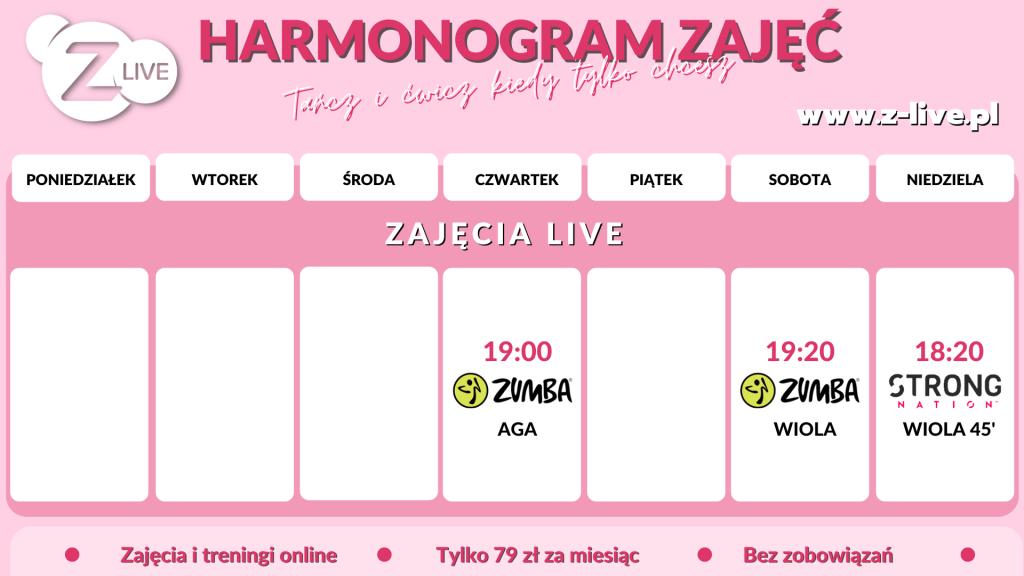 Harmonogram LIVE